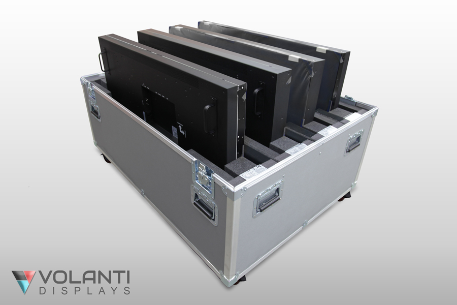 Transportable Video-wall displays case 2